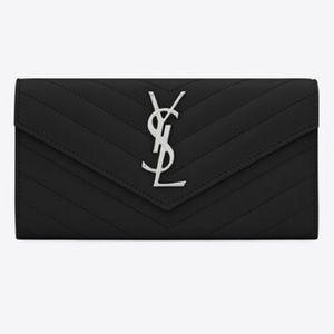 Saint Laurent❤️Monogram Grain de poudre  wallet
